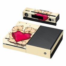 اسکین بدنه XBox ONE طرح Teddy Bears Red Heart